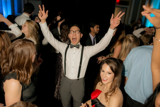 Ohio University Heritage College of Osteopathic Medicine students attend The Heritage Ball at the Baker Ballroom, Saturday, January 9, 2015 in Athens, Ohio.